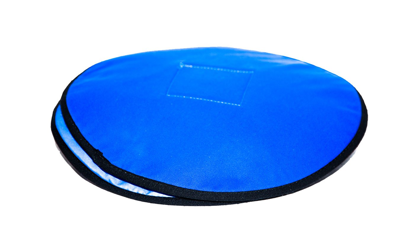 blue rota cushion for manual handling equipment.